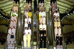 Vuitton SS13 - created by conceptual artist Daniel Buren