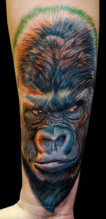 gorilla tattos | Gorilla : Tattoos :