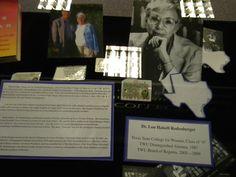 Texas Woman's University Libraries, Lou Halsell Rodenberger Exhibit, September 2012