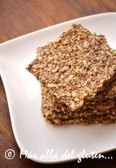 Más allá del gluten...: Crackers con Semillas de Chia y de Girasol (Receta GFCFSF, Vegana, RAW)