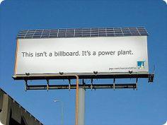 Cartel o valla solar