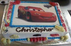 Cars cake edible print