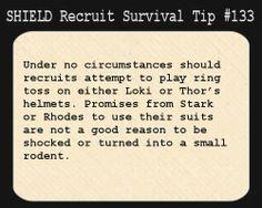 SHIELD Recruit Tip #133