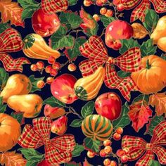 Christmas Floral, Fall Floral, Golden Fields, Christmas, Christmas Fabric, Christmas Ribbon, 287232