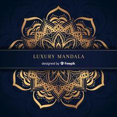 Luxury mandala background with golden arabesque pattern arabic islamic east style Vector Mandala Design, Mandala Floral, Mandala Motif, Indian Wedding Invitation Cards, Wedding Invitation Card Design, Invitations, Mandala Indio, Motif Arabesque, Illustrator