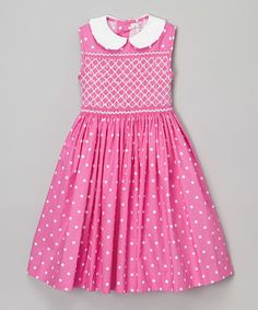 Another great find on #zulily! Pink Polka Dot Smocked Dress - Infant, Toddler & Girls #zulilyfinds