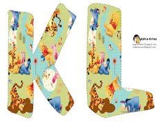 Alfabeto de Winnie the Pooh y sus amigos jugando.   Oh my Alfabetos!