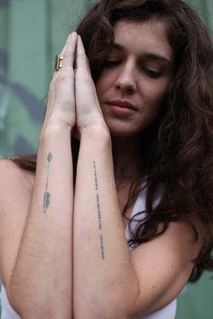 Arrow and morse code tattoos