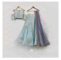Baby Blue Lehenga - waliajoness