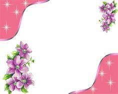Pink Flower Border | Png Pink Floral Border | Frame Wedding