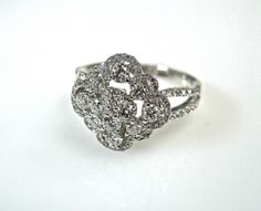 Diamond Floral Cluster Ring