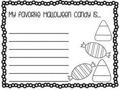 Halloween Writing Prompts - includes 10 prompts. Great for morning work, a writing center, and early finishers.