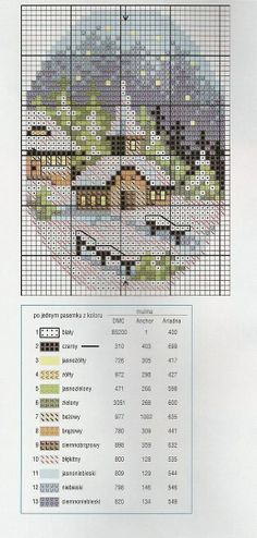 cross-stitch churches