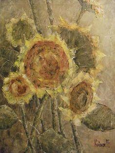 подсолнухи2 - Изобразительное искусство - Масло, акрил
