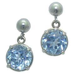 Spinel Earrings in 14 karat white gold https://www.goldinart.com/shop/colored-gemstone-earrings/spinel-earrings-in-14-karat-white-gold