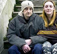 This pin is explaining the health problems likely to be faced by victims of homelessness.