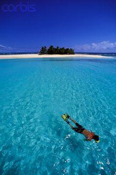 Snorkeling from Palominito Island back to Palomino Island.  El Conquistador Resort & Las Casitas Village. Puerto Rico  ElConResort.com