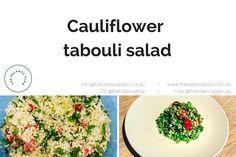 Grain free tabouli salad.