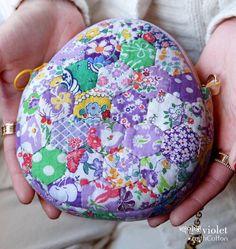 마감> 백인백 바이올렛 퀼트패키지 : 네이버 블로그 Yo Yo Quilt, Japanese Bag, Quilted Bag, Coin Purse, Patches, Bag Patterns, Hexagons, Quilts, Wallet