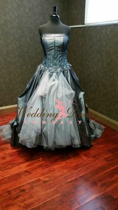 Sensational Gray Wedding Dress Alternative by WeddingDressFantasy.com