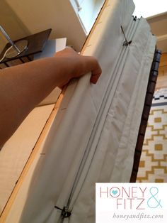 DIY No Sew Blackout Lined Bamboo Shades