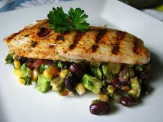 two foodies & a pup: Cajun Grilled Tilapia with Black Bean Salsa