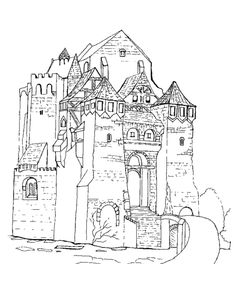 Medieval Knights Coloring page oktouse  SCA Youth  Quiet Box
