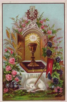 """catholicsoul: """"Plenary indulgence to all who on Holy Thursday, either in public or private, shall for one hour practise some devotion in remembrance of the institution of the most holy Eucharist ; to be gained after Confession and Communion on that. Church Pictures, Religious Pictures, Jesus Pictures, Holy Saturday, Holy Thursday, Holy Hour, Vintage Holy Cards, Christian Images, Les Religions"""