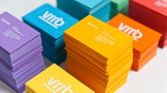 Try multi-coloured cards for different people in your company.