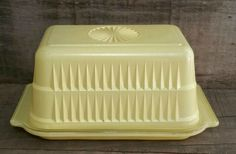 Vintage Glass Ribbed Hoosier Butter Dish, Vintage Refrigerator Dish, by EmptyNestVintage on Etsy