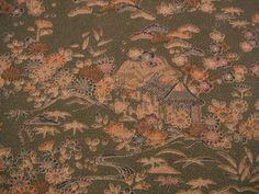 RARE Rural Landscape Scene Vintage Japanese Tango by CosimaOrimono, $35.00