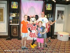 The kids with Minnie Mouse.  Ali couldn't wait to meet Minnie, however Kaiden tried to steal the show by out posing Minnie, which lead to five minutes of Minnie and Kaiden out posing each other.