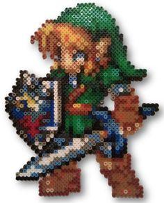 Perler/Hama Bead Art - Link (The Legend of Zelda). £15.00, via Etsy.