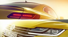 The new Volkswagen Arteon - Volkswagen's replacement for the CC - is teased ahead of its debut at the 2017 Geneva Motor Show next month.