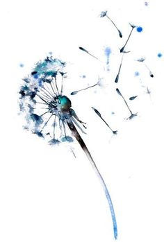 watercolor dandelion tattoo - This would be cute behind the ankle curve toward it sorta on the side of the heel