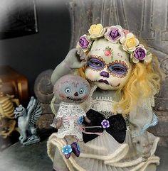 OOAK Polymer Clay Baby Fairy Sculpture Art Doll Halloween Verona Barrella   eBay