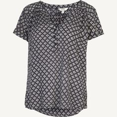 Wendy Diamond Hatch Blouse at Fat Face