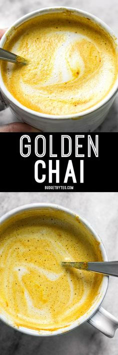 This Golden Chai is full of warm exotic spices, earthy turmeric, and just a hint of natural honey. It's warm, comforting, and perfect for fall! BudgetBytes.com (for low carb, sub stevia/splenda/etc for honey and nut milk for milk!)