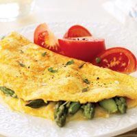 Asparagus and Gruyère Omelet