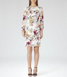 Reiss 'Lottie' PRINTED SILK DRESS