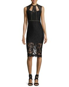 Oralie+High-Neck+Midi+Dress+by+Alexis+at+Neiman+Marcus.