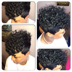 Short curly quick weave