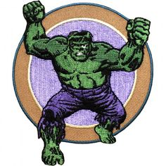 Official Marvel Comics Universe Avengers Incredible Hulk Retro Iron on Patch