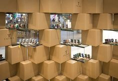 Cool Pop-up Store Made with Carton Boxes