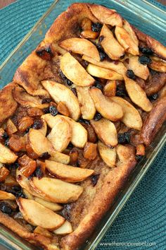 Overnight French Toast with Apples, Apricots and Cranberries: an easy, make ahead breakfast dish! www.thereciperebel.com