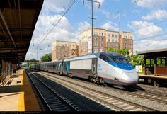 RailPictures.Net Photo: AMTK 2021 Amtrak Bombardier/Alstom Acela Express Trainset at Elizabeth, New Jersey by Christopher Gore