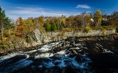 10 Unbelievable New Hampshire Waterfalls Hiding In Plain Sight. No Hiking Required New Hampshire, Hiking Trails, Newport, Vermont, Places To Go, Waterfall, Explore, Mountains, City