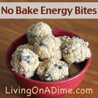 This No Bake Energy Bites Recipe makes a tasty snack that provides a lot of energy. These yummy bites are also a great change from the usual granola bars!