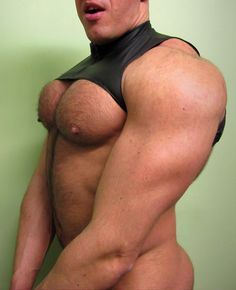 Nipples hairy chest with big