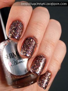 Wacky Laki: Shimmer Polish Airrianne (over OPI Sleigh Ride for Two)